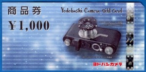 ヨドバシカメラ商品券 1000円券