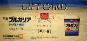 明治ヨーグルトギフト券 262円券