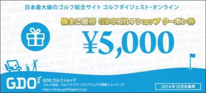 GDOゴルフショップ クーポン券5000円券