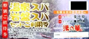 スパリゾート湯の華アイランド 特別招待券