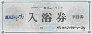 舞浜ユーラシア入浴券 平日券