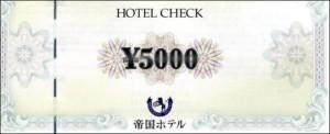 帝国ホテル ホテルチェック 5000円