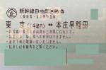 東京-本庄早稲田 新幹線自由席回数券(上越新幹線)