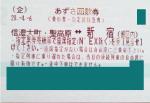 新宿-信濃大町 特急あずさ指定席回数券