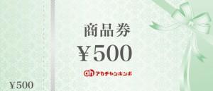アカチャンホンポ(赤ちゃん本舗)商品券 500円券