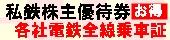 私鉄株主優待券お得各社電鉄全線乗車証