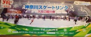 神奈川スケートリンク招待券