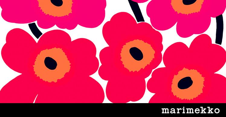 マリメッコの代表的デザイン「ウニッコ」 Photo: https://www.look-inc.jp/
