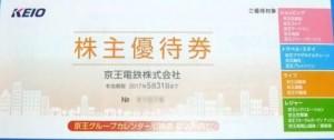 京王電鉄 株主優待冊子(京王百貨店お買物金額10%割引5枚他)200株未満
