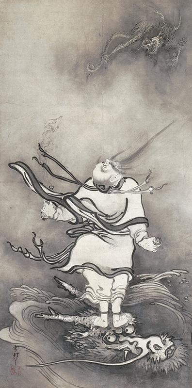 雪村《呂洞賓図》 重要文化財 奈良・大和文華館蔵