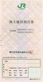 JR東日本株主優待券 <2017年6月1日〜2018年5月31日期限>
