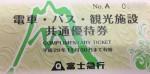 富士急電車・バス・観光施設共通優待券(切符タイプ) 2017年11月30日期限