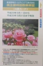 阪急阪神HD優待カード4回 2018年5月31日期限