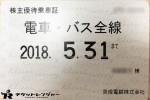 京成電鉄株主優待乗車証(定期型)電車バス全線 2018年5月31日期限