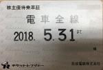 京成電鉄株主優待乗車証(定期型)電車全線 2018年5月31日期限