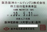 阪神電鉄株主優待乗車証(定期型)電車全線 2018年5月31日期限