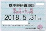 小田急電鉄株主優待乗車証(定期型)電車バス全線 2018年5月31日期限