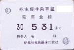 伊豆箱根鉄道株主優待乗車証(定期型)電車全線 2018年5月31日期限