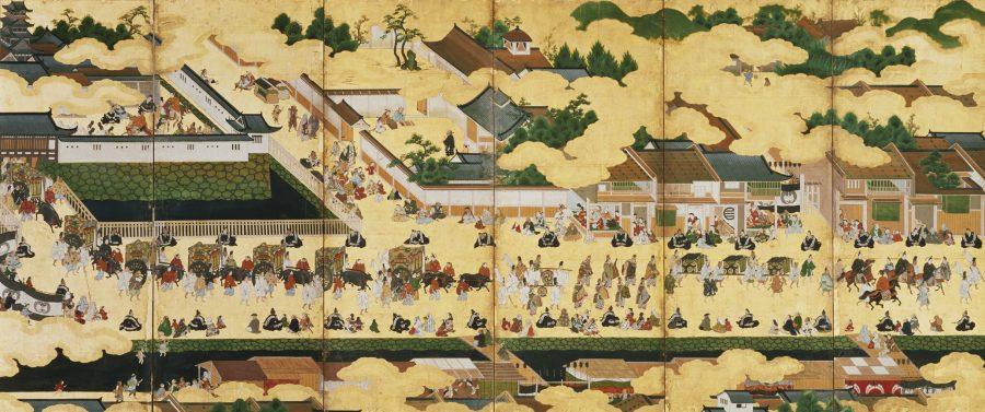 東福門院入内図屛風 六曲一双 江戸時代 17世紀 徳川美術館