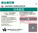 JAL(日本航空)株主優待券 <2018年12月1日〜2019年11月30日期限>