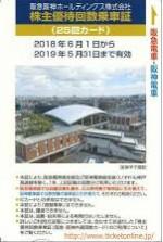 阪急阪神HD優待カード25回 2019年5月31日