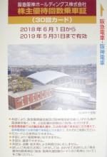 阪急阪神HD優待カード30回 2019年5月31日期限
