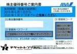 ANA(全日空)株主優待券 <2019年6月1日〜2020年5月31日期限>ブルー