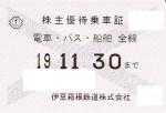 伊豆箱根鉄道株主優待(定期型)電車・バス 2019年11月30日期限