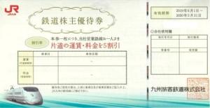 JR九州株主優待券 <2019年6月1日〜2020年5月31日期限→2021年5月31日期限に延長>