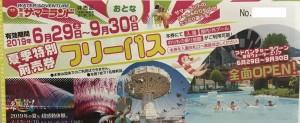 東京サマーランド パスポート(入園+のりものフリー)