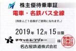 名古屋鉄道(名鉄)株主優待(定期型)電車・バス全線 2019年12月15日期限