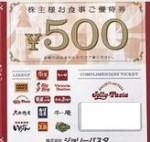 サンデーサン株主優待券 500円券
