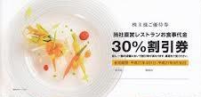 ノバレーゼ株主優待券 30%OFF券