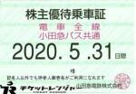 小田急電鉄株主優待(定期型)電車・バス全線 2020年5月31日期限
