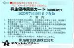 南海電鉄株主優待カード6回分 2020年7月10日期限