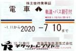 南海電鉄株主優待(定期型)電車・バス全線 2020年7月10日期限