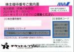 【ナイトセール中】ANA(全日空)株主優待券 <2020年6月1日〜2021年5月31日期限>ピンク