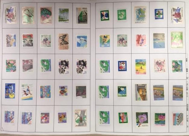 台紙貼り切手の画像