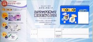 トレジャーファクトリー株主優待 プレゼント抽選券「トレジャーロト」