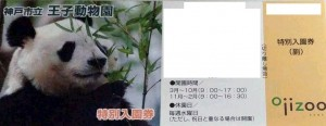 神戸市王子動物園 入園券