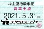 小田急電鉄株主優待(定期型)電車全線 2021年5月31日期限