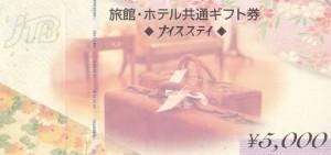 旅館・ホテル共通ギフト券(JTBナイスステイ) 5,000円券