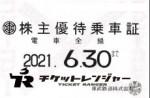 東武鉄道株主優待(定期型)電車全線 2021年6月30日期限