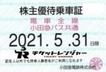 小田急電鉄株主優待(定期型)電車・バス全線 2021年5月31日期限