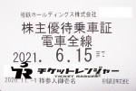 相模鉄道(相鉄)株主優待(定期型)電車全線 2021年6月15日期限