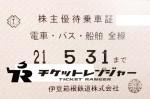 伊豆箱根鉄道株主優待(定期型)電車全線・乗合バス・船舶 2021年5月31日期限