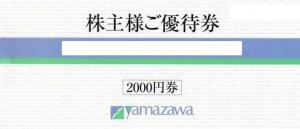 ヤマザワ株主優待冊子 100円×20枚綴り