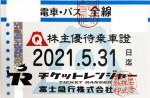 富士急行株主優待(定期型)電車・バス全線 2021年5月31日期限