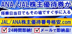 ANA/JAL株主優待券当日その場で手に入る!番号サイトはこちら