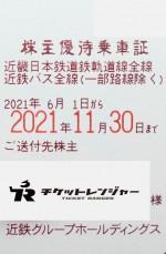 近畿日本鉄道(近鉄)株主優待(定期型)電車・バス全線 2021年11月30日期限